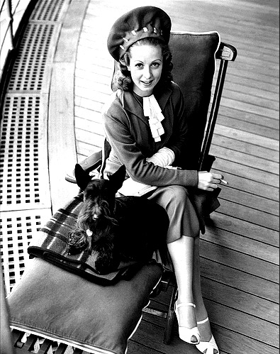 Unknown Actress and her Scottie, 1930's