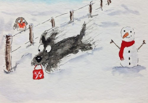 Christmas Dash Scottie